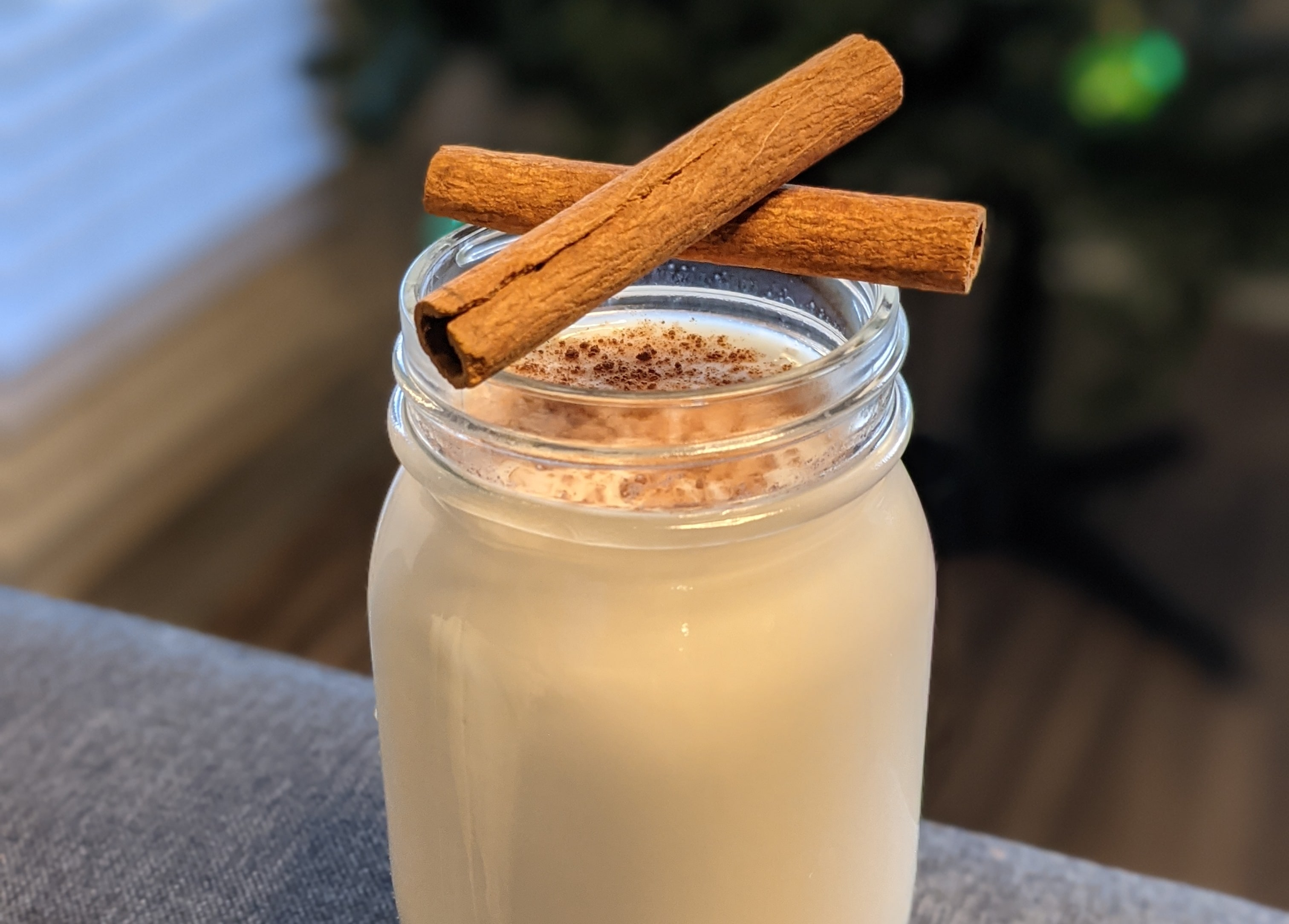 Cinnamon milk flip cocktail made with real milk